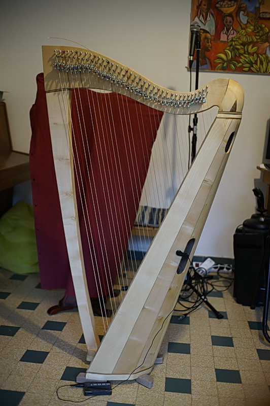 Construction d'une harpe celtique de 36 cordes 53