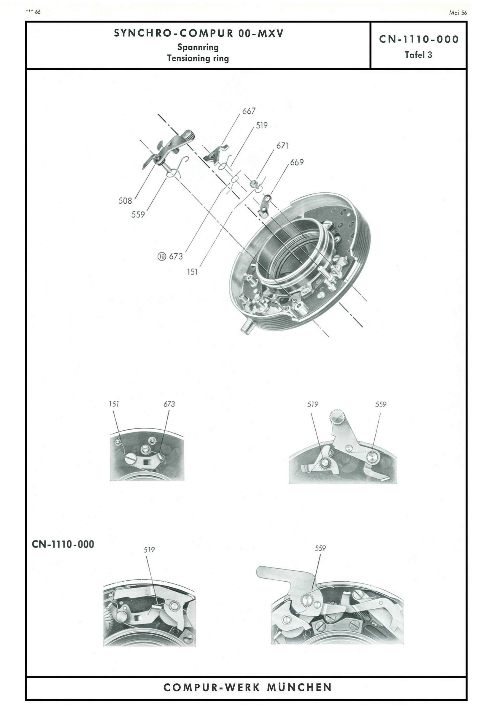 Compur shutter key generator